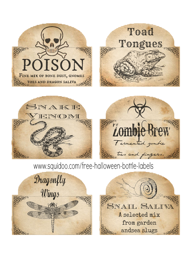 free halloween printable labels